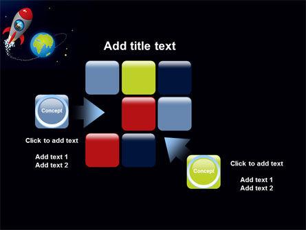 Cartoon Rocket PowerPoint Template Slide 16