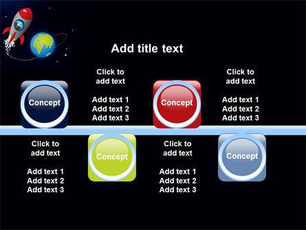 Cartoon Rocket PowerPoint Template Slide 19