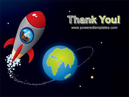 Cartoon Rocket PowerPoint Template Slide 20