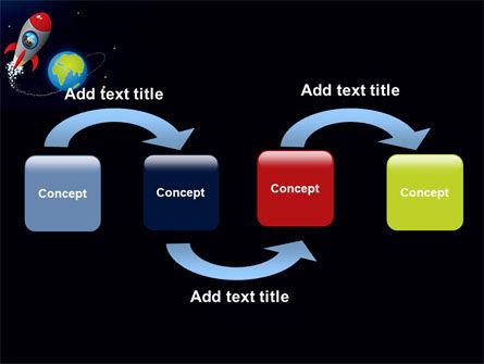 Cartoon Rocket PowerPoint Template, Slide 4, 06937, Education & Training — PoweredTemplate.com