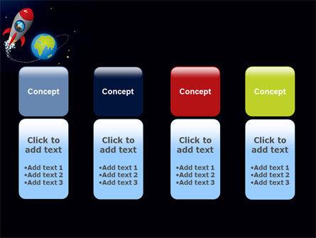 Cartoon Rocket PowerPoint Template Slide 5