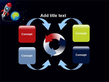 Cartoon Rocket PowerPoint Template Slide 6
