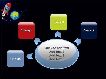 Cartoon Rocket PowerPoint Template Slide 7