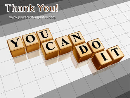 You Can Do It PowerPoint Template Slide 20