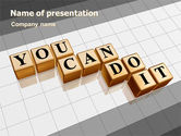 Education & Training: You Can Do It PowerPoint Template #06938
