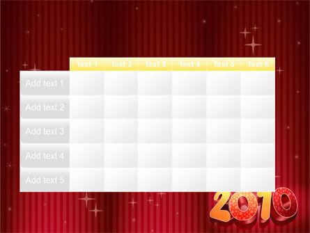 N 2010 Yr PowerPoint Template Slide 15
