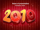 Holiday/Special Occasion: N 2010 Yr PowerPoint Template #06939
