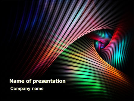 Abstract/Textures: Digital Palette PowerPoint Template #06942