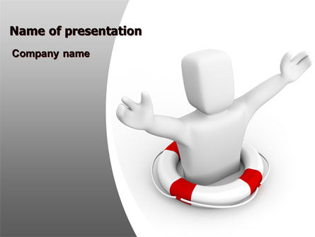 Drowning Man PowerPoint Template, 06943, Consulting — PoweredTemplate.com