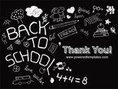 School Blackboard PowerPoint Template#20