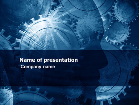 Working Gears PowerPoint Template, 06945, Technology and Science — PoweredTemplate.com