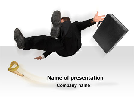 Slipping Man PowerPoint Template
