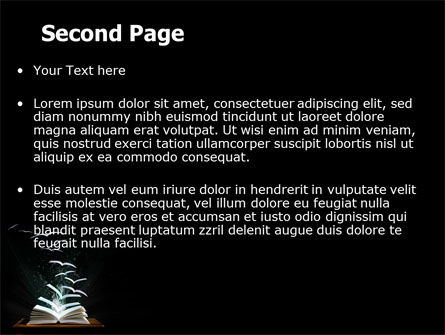 Flying Pages PowerPoint Template Slide 2