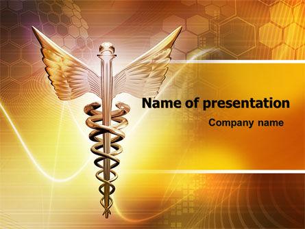 Caduceus PowerPoint Template, 06948, Medical — PoweredTemplate.com