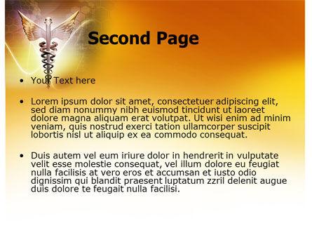 Caduceus PowerPoint Template, Slide 2, 06948, Medical — PoweredTemplate.com