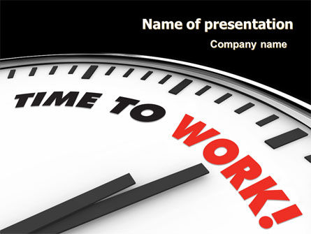 Business Concepts: Time to Work PowerPoint Template #06949