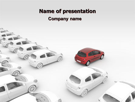 Cars and Transportation: Red Car PowerPoint Template #06951