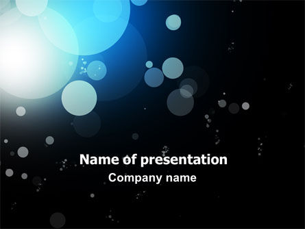 Abstract/Textures: Blue Circles PowerPoint Template #06952