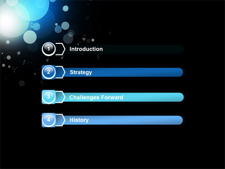 Blue Circles PowerPoint Template Slide 3