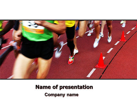 Sports: Athletic Competition PowerPoint Template #06954