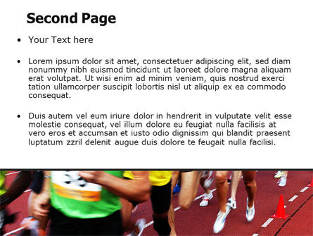 Athletic Competition PowerPoint Template, Slide 2, 06954, Sports — PoweredTemplate.com