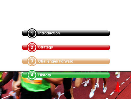 Athletic Competition PowerPoint Template, Slide 3, 06954, Sports — PoweredTemplate.com