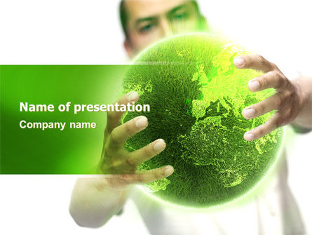 Nature & Environment: Green World in Human Hands PowerPoint Template #06955