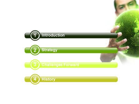 Green World in Human Hands PowerPoint Template, Slide 3, 06955, Nature & Environment — PoweredTemplate.com
