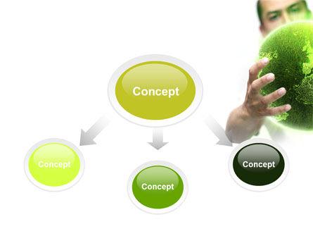 Green World in Human Hands PowerPoint Template, Slide 4, 06955, Nature & Environment — PoweredTemplate.com
