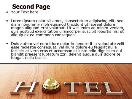 Hotel Check-in PowerPoint Template Slide 2