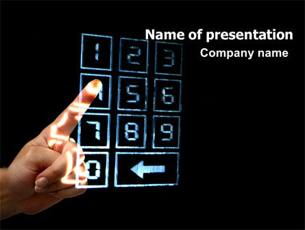 Transparent Touchscreen PowerPoint Template, 06960, Technology and Science — PoweredTemplate.com