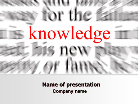 Education & Training: Focus on Knowledge PowerPoint Template #06961