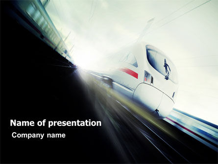 High-Speed Train PowerPoint Template, 06963, Cars and Transportation — PoweredTemplate.com