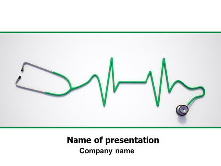 Medical: Stethoscope Diagram PowerPoint Template #06964