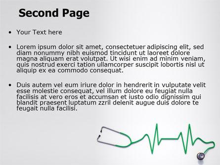 Stethoscope Diagram PowerPoint Template, Slide 2, 06964, Medical — PoweredTemplate.com