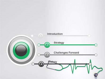 Stethoscope Diagram PowerPoint Template, Slide 3, 06964, Medical — PoweredTemplate.com