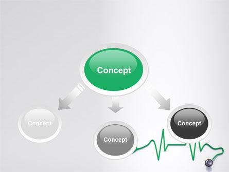 Stethoscope Diagram PowerPoint Template, Slide 4, 06964, Medical — PoweredTemplate.com