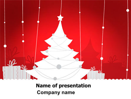 Christmas Tree Theme PowerPoint Template