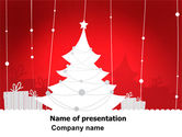 Holiday/Special Occasion: Christmas Tree Theme PowerPoint Template #06966