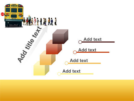 School Bus Stop PowerPoint Template Slide 14