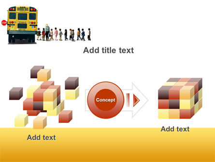 School Bus Stop PowerPoint Template Slide 17