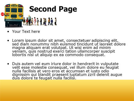 School Bus Stop PowerPoint Template Slide 2