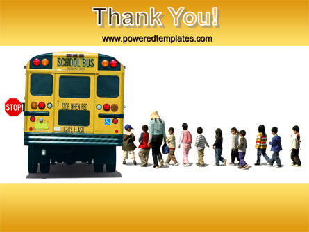 School Bus Stop PowerPoint Template Slide 20
