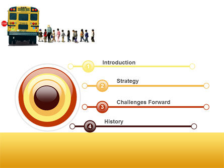 School Bus Stop PowerPoint Template, Slide 3, 06967, Education & Training — PoweredTemplate.com