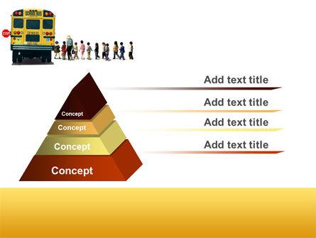 School Bus Stop PowerPoint Template, Slide 4, 06967, Education & Training — PoweredTemplate.com