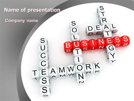 Business Game PowerPoint Template, 06968, Business — PoweredTemplate.com