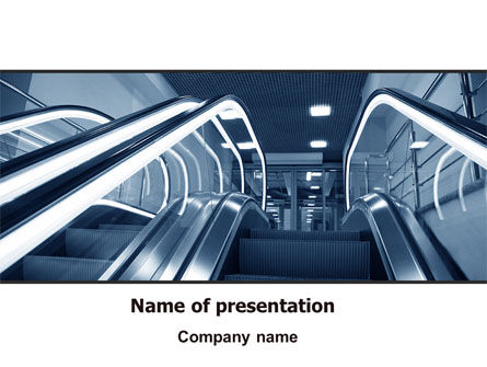 Construction: Escalator PowerPoint Template #06969