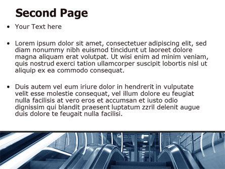 Escalator PowerPoint Template Slide 2