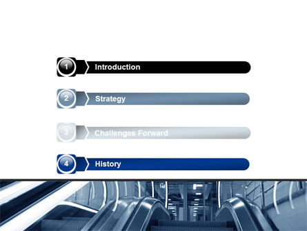 Escalator PowerPoint Template Slide 3