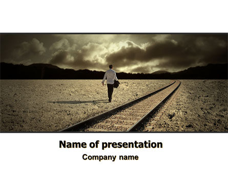 Business Concepts: Life Path PowerPoint Template #06971